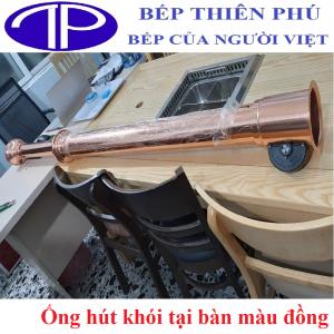 Ống hút khói tại bàn màu đồng giá rẻ tại Hà Nội - Hồ Chí Minh