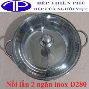 Nồi lẩu 2 ngăn inox D280 giá rẻ nhất Hà Nội