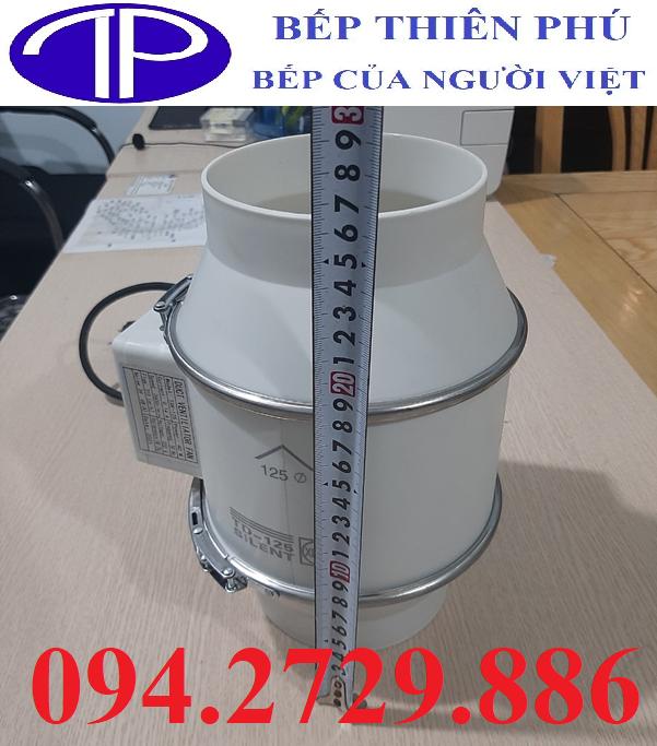 Quạt hút thông gió đường ống tròn D125 chất lượng, giá rẻ ở Hà Nội