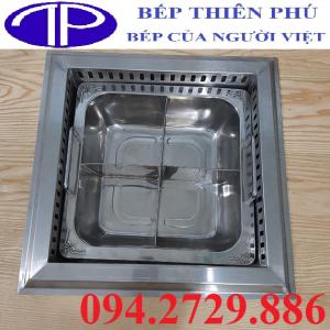 Bếp lẩu 4 ngăn âm bàn vuông công suất 3000w chất lượng cao giá rẻ nhất Hà Nội